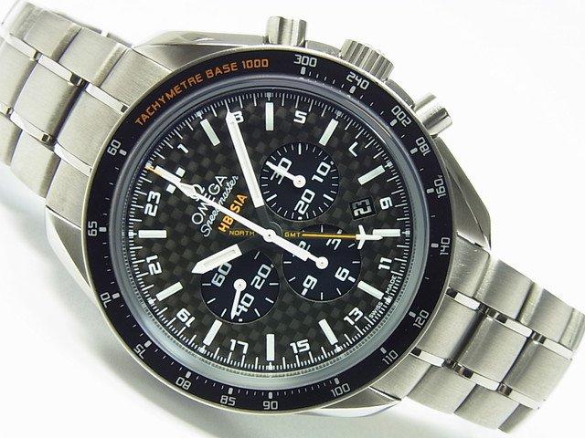 オメガ スピードマスター HB-SIA コーアクシャル GMT クロノブラフ