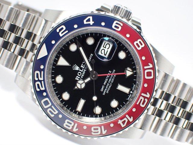 ロレックス GMTマスターII レッド/ブルーベゼル 126710BLRO 正規品