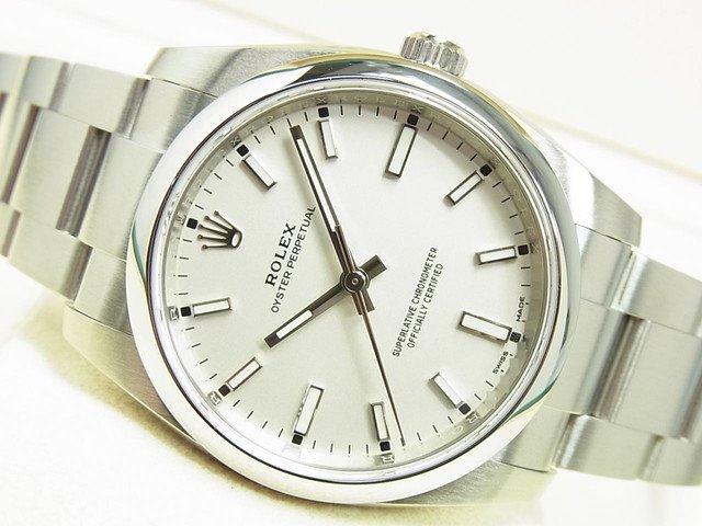 ロレックス オイスターパーペチュアル34 ホワイト Ref.114200 正規品