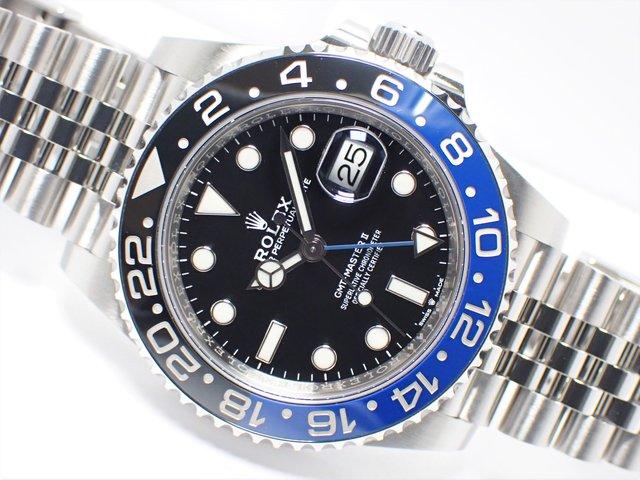 ロレックス GMTマスターII ブラック/ブルーベゼル 126710BLNR