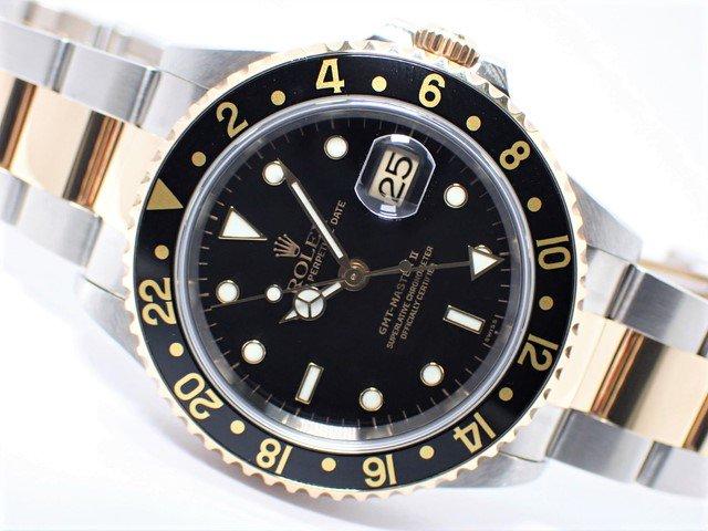 ロレックス GMTマスターII・コンビ ブラック 16713 A番