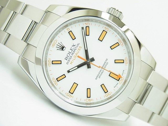 ロレックス ミルガウス ホワイト 116400 V番