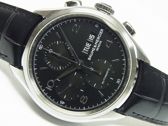 ボーム&メルシエ クリフトン・クロノグラフ ブラック文字盤 MOA10211