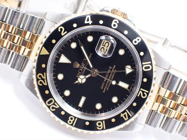 ロレックス GMTマスターII・コンビ ブラック 16713 U番