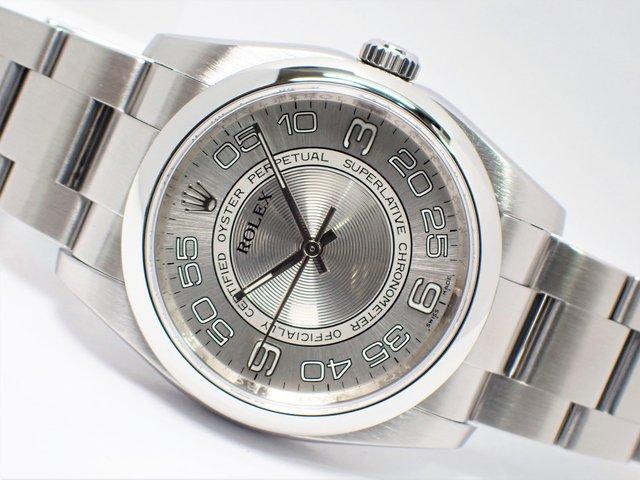 ロレックス オイスターパーペチュアル36 シルバーコンセントリック 116000