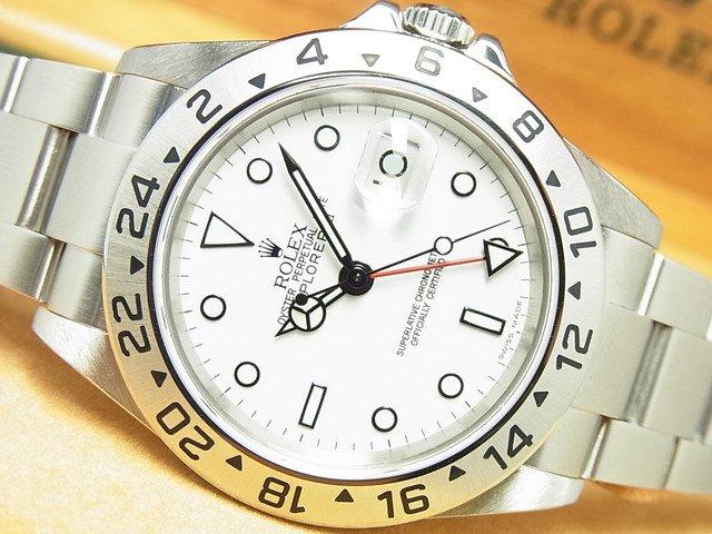 ロレックス エクスプローラーII ホワイト Ref.16570 F番