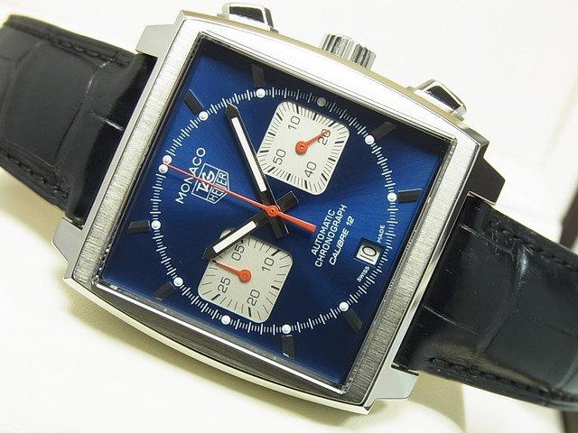 タグ・ホイヤー モナコ Cal.12 クロノグラフ ブルー文字盤 正規品