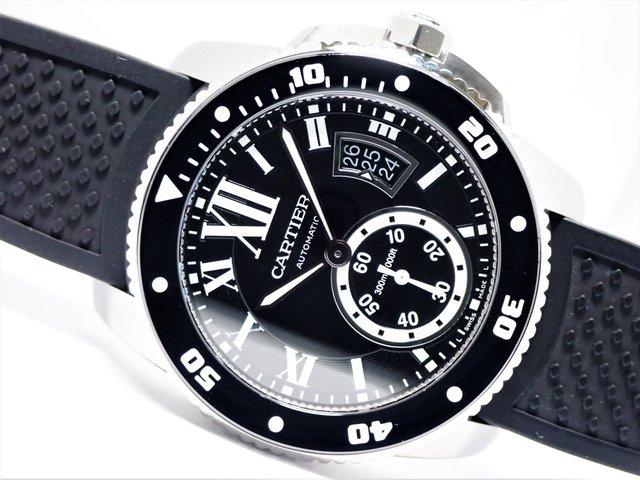 カルティエ カリブル・ダイバー SS ラバー W7100056 正規品