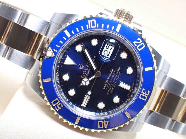ロレックス サブマリーナデイト コンビ ブルー 116613LB 未使用品
