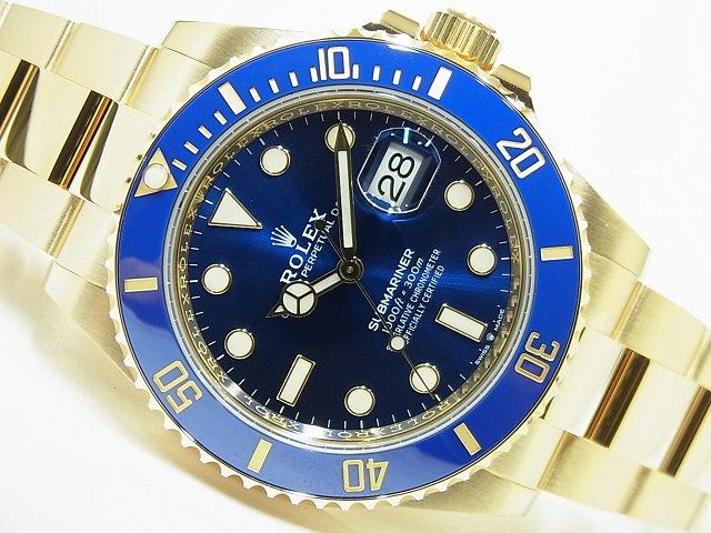 ロレックス 新型サブマリーナデイト 18KYG ブルー 126618LB 未使用品