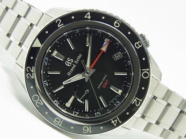 グランドセイコー スプリングドライブ・GMT ブラック文字盤 SBGE201