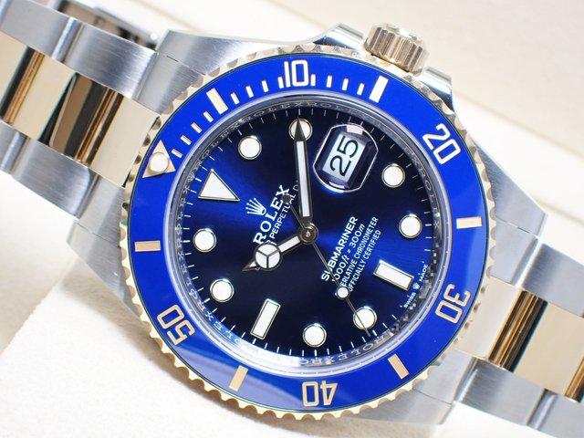 ロレックス サブマリーナデイト コンビ ブルー 126613LB 未使用品