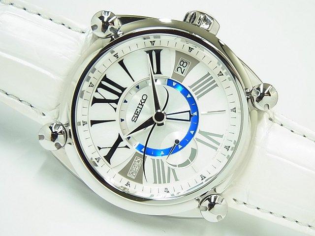セイコー ガランテ スプリングドライブ・GMT ホワイトシェル SBLA111 120本限定