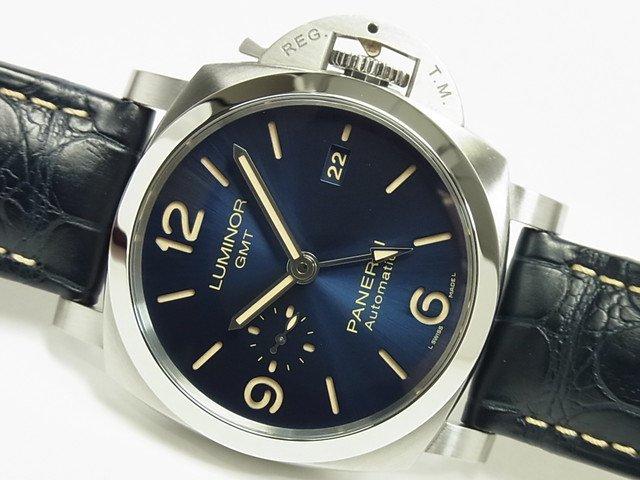 パネライ ルミノール・GMT 44MM ブルー PAM01033 V番