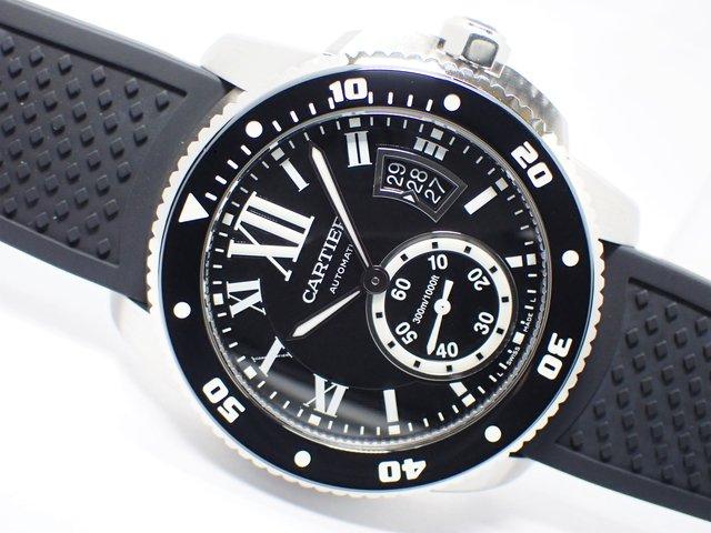カルティエ カリブル・ダイバー SS ラバー W7100056