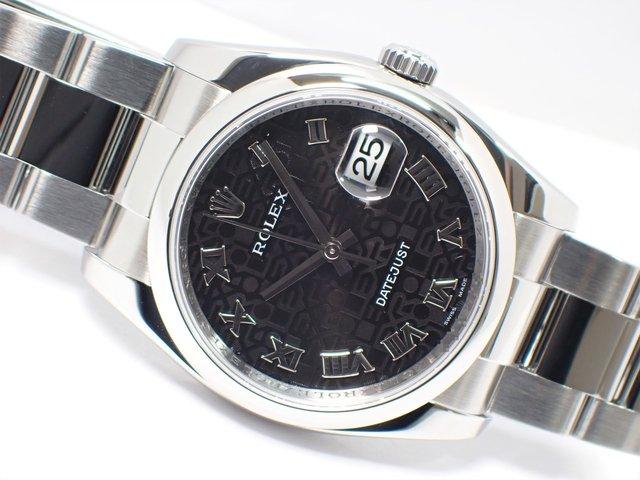 ロレックス デイトジャスト 116200 黒コンピュータローマン Z番 正規品