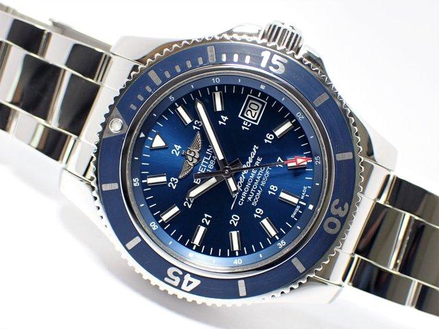 ブライトリング スーパーオーシャンII 42 ブルー ブレス仕様 A17365