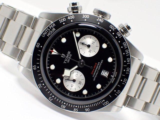 チューダー ブラックベイ クロノグラフ ブラック×ホワイト ブレス仕様 M79360N-0001