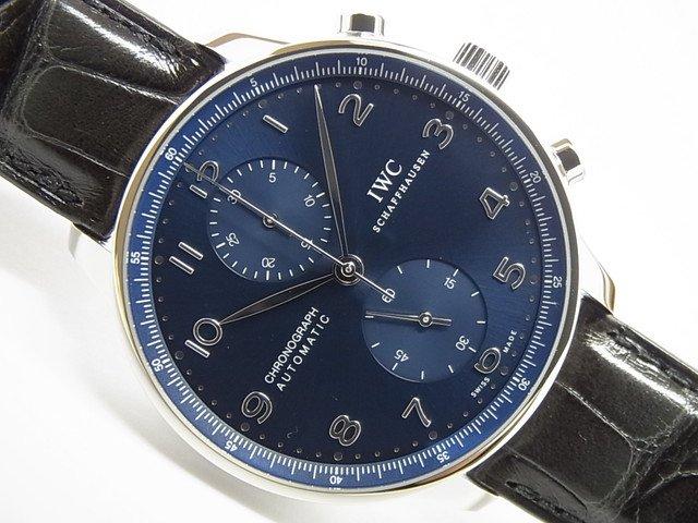 IWC ポルトギーゼ・クロノグラフ ブルー文字盤 IW371491 未使用