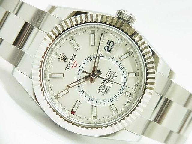 ロレックス スカイドゥエラー WGベゼル 326934 ホワイト 未使用品
