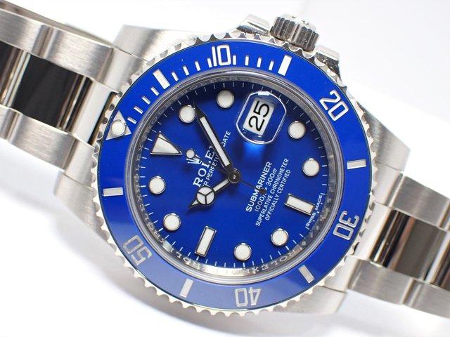 ロレックス サブマリーナ・デイト ブルー 18KWG 116619LB 正規品