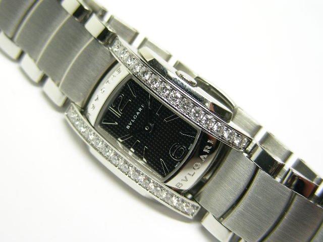 ブルガリ アショーマD SS ダイヤ ブラック 美品