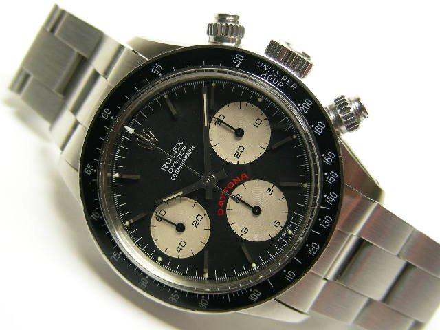 newest 788e9 a6553 ロレックス 旧型デイトナ・手巻 Ref.6263 黒 ビッグ表記 - 腕時計専門店THE-TICKEN(ティッケン) オンラインショップ
