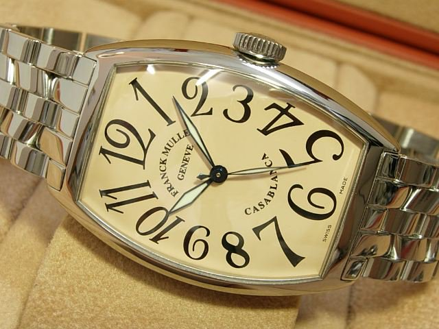 フランクミュラー カサブランカ 5850 サーモンピンク ブレス仕様