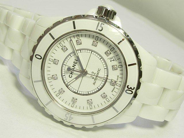 low priced 2c844 99224 シャネル J12ホワイトセラミック 12Pダイヤ メンズ 正規品 - 腕時計専門店THE-TICKEN(ティッケン) オンラインショップ