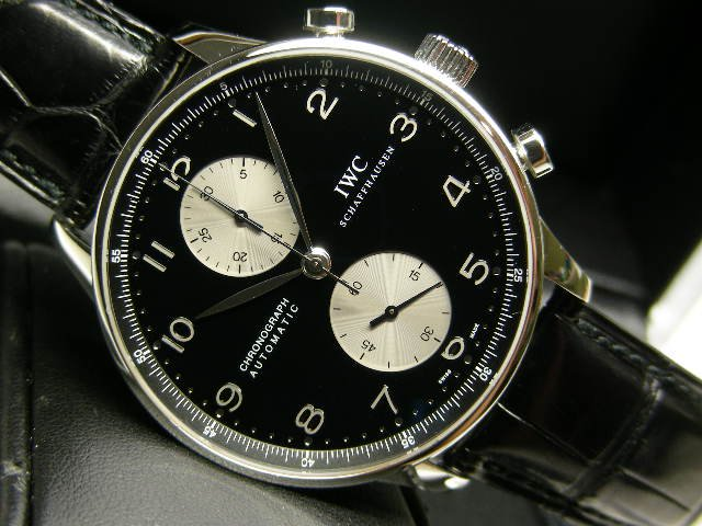new product 608a9 a23f7 IWC ポルトギーゼ・クロノグラフ 黒×白 Ref.3714-04 - 腕時計 ...