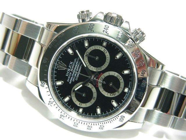 hot sales ca984 81a4e ロレックス デイトナ ステンレス ブラック D番 - 腕時計専門店 ...