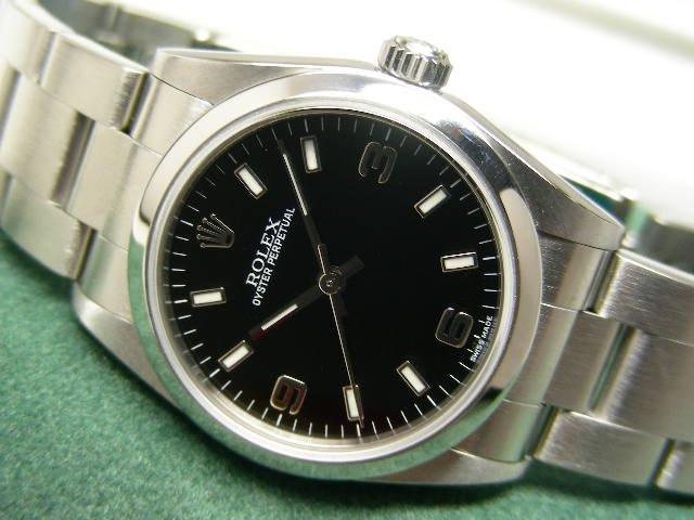ロレックス ボーイズ パーペチュアル 黒3・6・9 Ref.77080