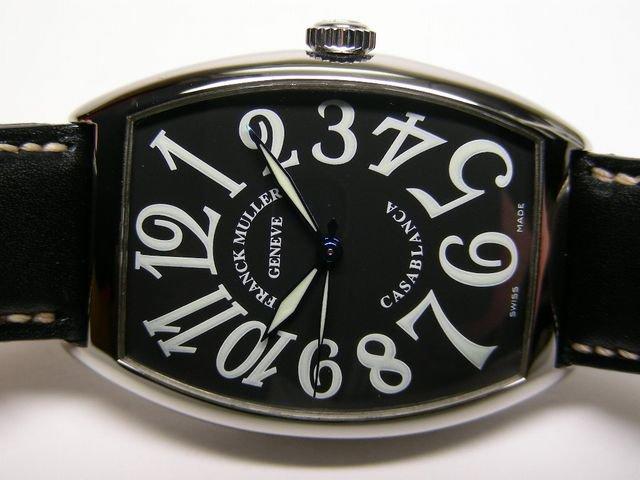 フランク・ミュラー カサブランカ ブラック 革 Ref.6850