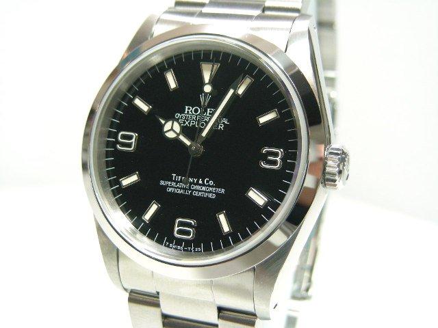 the best attitude 67a97 454fd ロレックス&ティファニー Wネーム エクスプローラーI - 腕時計 ...