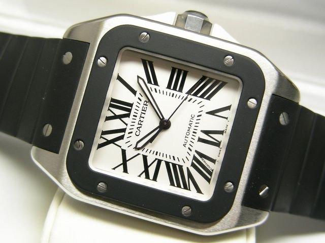 newest ecc73 9d71e カルティエ サントス100 LM ラバーベルト仕様 - 腕時計専門店THE ...