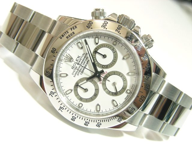 huge selection of 69537 16b94 ロレックス デイトナ・ステンレス ホワイト - 腕時計専門店THE ...