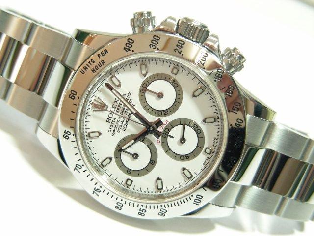 on sale 89a57 6c977 ロレックス デイトナ ステンレス 116520 ホワイト - 腕時計専門 ...
