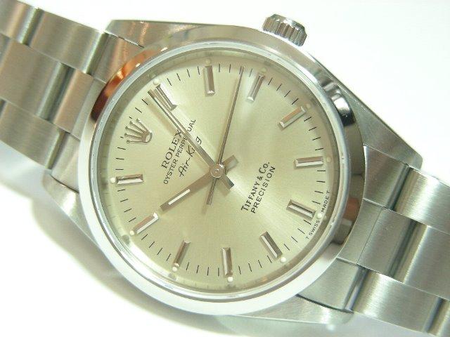 online store 49457 b68fb ロレックス エアキング ティファニーダブルネーム - 腕時計専門 ...