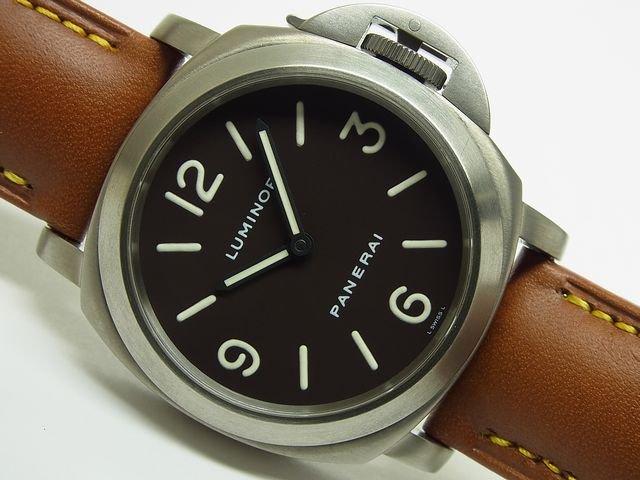 big sale b2805 9ef85 パネライ ルミノール・ベース チタン PAM00055 C番 - 腕時計専門 ...