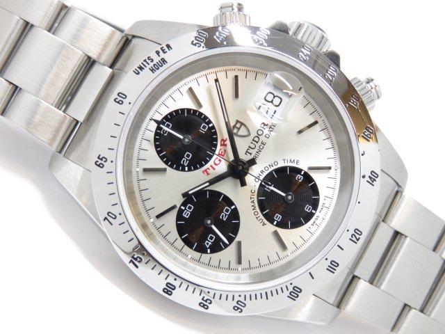 チュードル 旧型クロノタイム タイガーモデル 銀×黒 79280