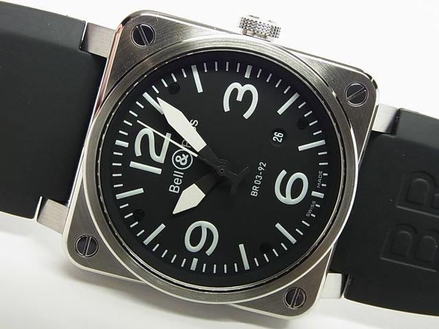 ベル&ロス BR03-92 オートマチック SS 黒 ラバー 正規