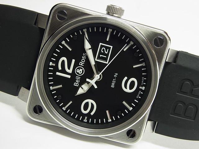 ベル&ロス BR01-96 グランドデイト 46MM SS ブラック