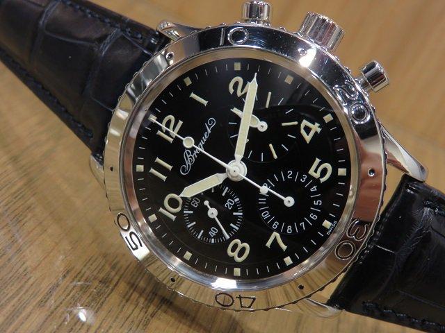 quality design d0423 9618a ブレゲ アエロナバル 3800ST SS 革ベルト 初期モデル - 腕時計 ...