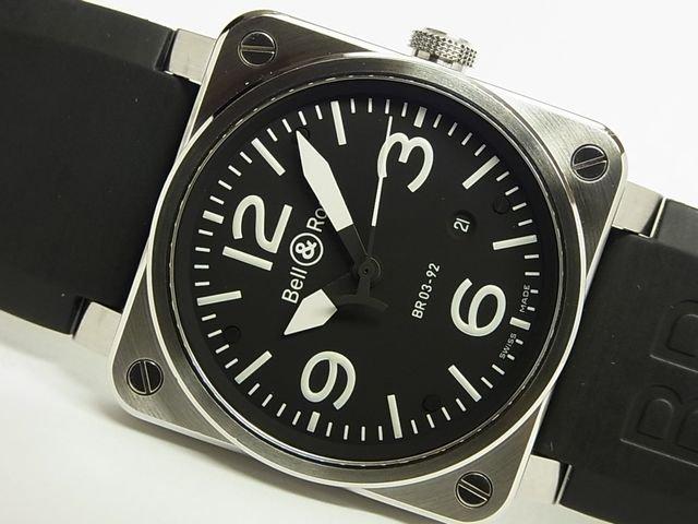 ベル&ロス BR03-92 オートマチック SS ブラック ラバー