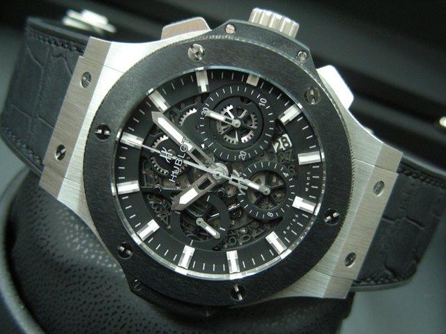 new style ed9ca 80fbc ウブロ ビッグバン アエロバン スチール/セラミック - 腕時計 ...