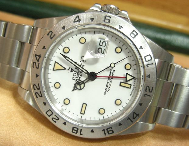size 40 71d08 b8f67 ロレックス エクスプローラーII ホワイト 16570 E番 - 腕時計 ...