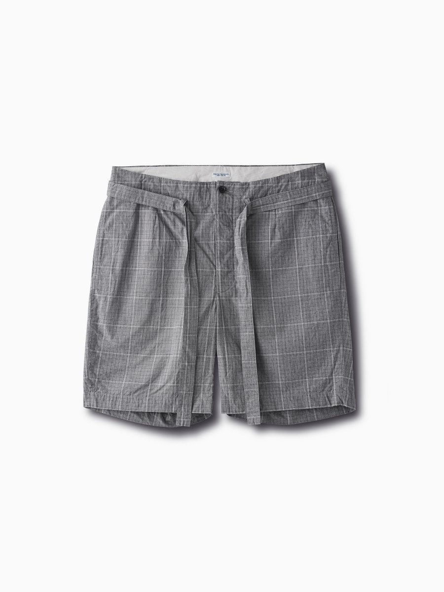 BRAND : PHIGVEL<br>MODEL : BELTED EASY SHORTS<br>COLOR : CHECK