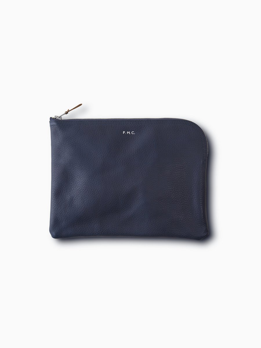 BRAND : PHIGVEL <br>MODEL : LEATHER PURSE L<br>COLOR : NAVY