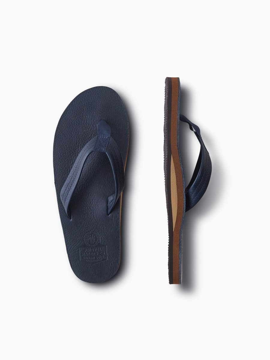 BRAND : PHIGVEL <br>MODEL : LEATHER BEACH SANDAL <br>COLOR : NAVY
