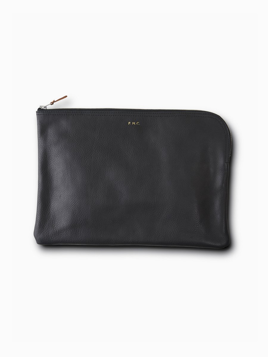 BRAND : PHIGVEL <br>MODEL : LEATHER PURSE LL<br>COLOR : BLACK